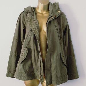 American Eagle olive green utility jacket med